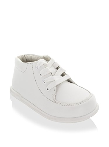 White Leather Pram Shoes - 2