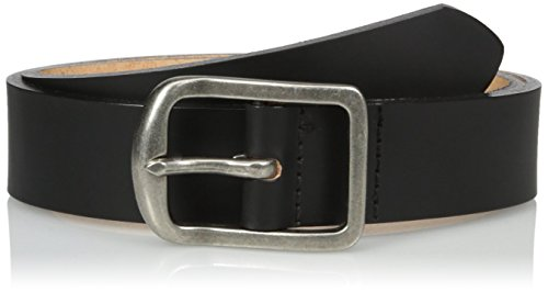 Men's Thickbelt Black 7mm Leather Belt, 40 (Black Naked Leather)