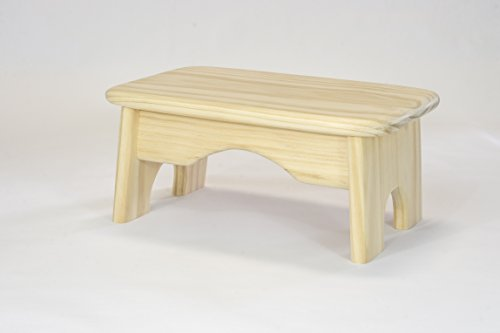 Handcrafted 100% Solid Wood Step Stool – Unfinished – Strong and Light – Ready for Paint or Stain – Smooth – No Sharp Corners or Edges – 6 inches High
