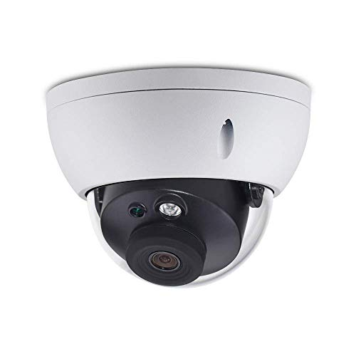 6MP Vandal-Proof Dome PoE IP Security Camera IPC-HDBW4631R-S 2.8mm Lens,6 Megapixels Super HD Outdoor Indoor Home Video Surveillance Camera with SD Card Slot,98ft Night Vision, ONVIF,IP67 Waterproof