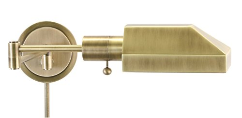 House Of Troy WS12-71-J Home/Office Collection Squared Wall Lamp, Antique Brass
