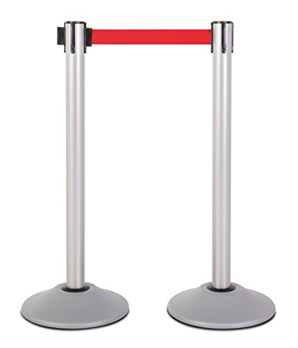US Weight Heavy Duty Premium Steel Stanchion with 7.5-Foot Retractable Belt (More Colors -