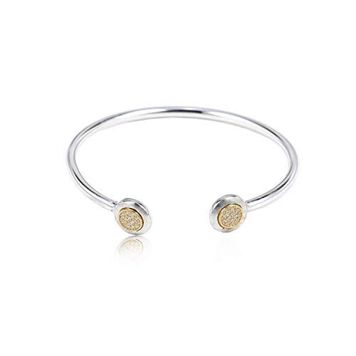 XiAn Sterling Silver Crystal Opening Flashing Buckle Bracelet Fit Original Women Charm DIY Jewelry from XiAn