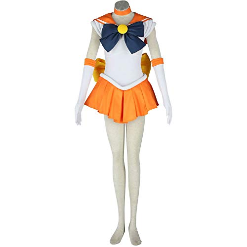OURCOSPLAY Women's Sailor Moon Minako Aino Venus Cosplay Costume Outfit Uniform Dress Suit Female (Women XS)