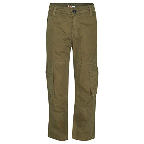 Kids Boys Youth BDU Ranger 6-Pocket Olive Combat Cargo Trouser Fashion Pant 5-13