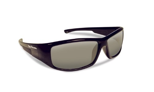 Flying Fisherman 7890BS Gaffer Jr Angler Polarized Sunglasses, Black Frames, Smoke - Sunglasses Angler
