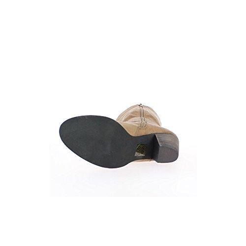 Stivali tortora foderato tacco spessore cm 7