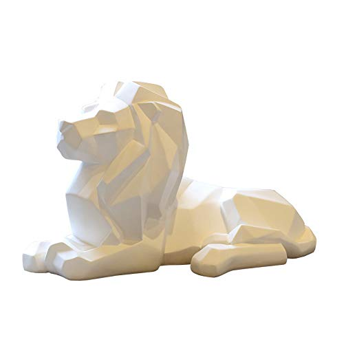 xuanyu Nordic Style Lions Wolf Cheetah Elephant Figurine Ornaments Home Decoration Animal Sculpture Handmade Creative Gift Statue