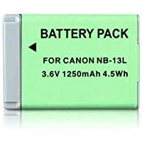 HIGH Capacity NB-13L 13L Battery Compatible for Canon PowerShot G5X G7X G9X G7 X Mark II