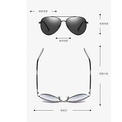 para de gray de Joker Burenqiq Mirror Completo polarizadas Gafas black Classic full Gafas Gris Sol Caballero Sol Metal armazón Sand wPWRqzRHn