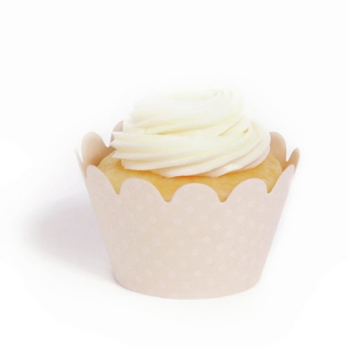 Dress My Cupcake Ivory Wrappers