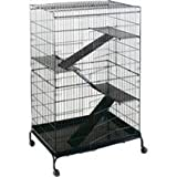 STEEL FERRET CAGE WITH CASTERS - JUMBO