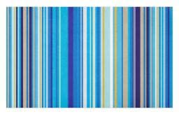 Repeating Stripe - Ambesonne Blue Doormat, Vertical Stripes Repeating Retro Revival Pattern Funky Abstract Composition, Decorative Polyester Floor Mat with Non-Skid Backing, 30 W X 18 L Inches, Mustard Blue White