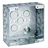 Crouse-Hinds TP558 Steel Outlet Box 4-11/16 Inch x 4-11/16 Inch x 2-1/8 Inch 42 Cubic-Inch