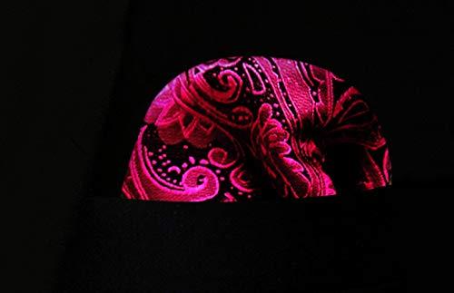 Jacquard fazzoletto Fazzoletto ascot e uomo rosa di da 4fUAf