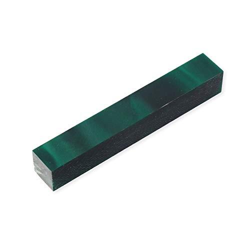 - Legacy Woodturning, Acrylic Pen Blank, Dark green with black line, 5