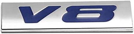 UrMarketOutlet V6 Red//Chrome Aluminum Alloy Auto Trunk Door Fender Bumper Badge Decal Emblem Adhesive Tape Sticker