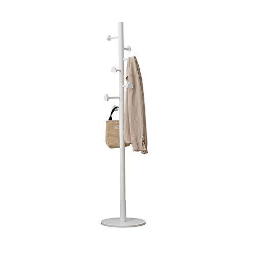 LJHA Wooden Coat Rack, Peach Heart Coat Rack, with 7 Hooks, Floor-Standing Hanger Racks, Bedroom Simple Hanger, 3 Colors Coat Hangers (Color : White)