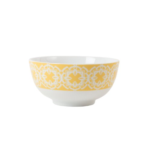 Color Collection, Graphic Appetizer Bowl, Yellow (Yellow Kitchen Bowl)