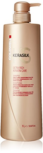 (Goldwell Kerasilk Ultra Rich Keratin Care Shampoo for Unisex, 33.79)
