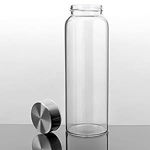 Amazon.com: Botella de agua de vidrio Kablo de 32 o 21 onzas ...