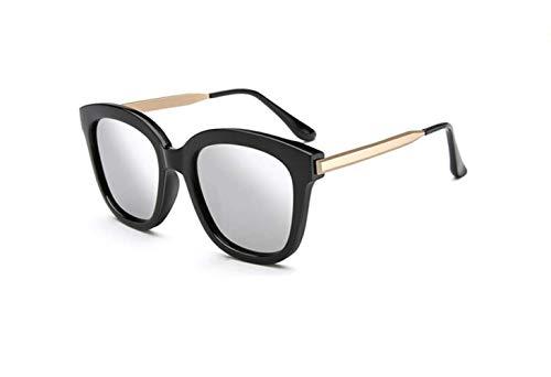 Box Protection Big liwenjun Gafas Gafas Sol UV Frame Mercury Personality Black De De Sol Moda Polarizadas Retro rqOwOTXxIn