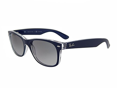 New Ray Ban RB2132 6053M3 Blue+Clear/Polar Grey Gradient 52mm Sunglasses