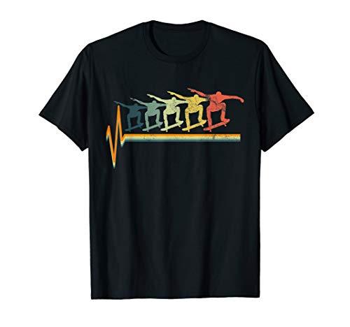 Skateboard T-Shirt Skater Tshirt Heartbeat Love Gift Tee