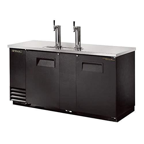 True TDD-3-HC 69'' Draft Beer System w/ (3) Keg Capacity - (2) Columns, Black, 115v by True Decor