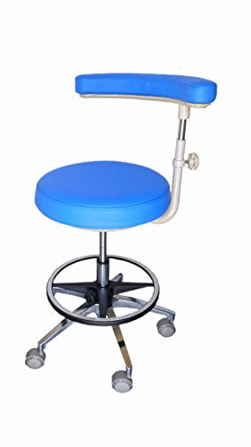 Assistant's Stool - Premium Dental Assistant's Stool, Medium Blue by Certified Dental Supply