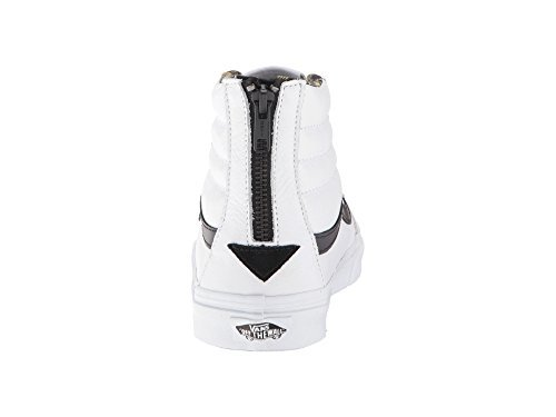aa885606e5f8 Galleon - Vans Womens Plaid Flannel SK8-Hi Slim Zip True White Black  Sneaker - 4