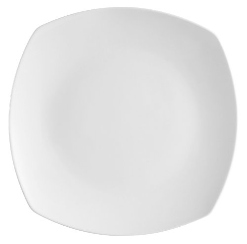CAC China COP-SQ16 Coupe 10-Inch Super White Porcelain Square Plate, Box of 12 by CAC China