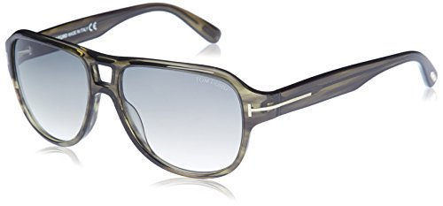 Lunettes de soleil Tom Ford FT0446 C57 95B (light green/other / gradient smoke)