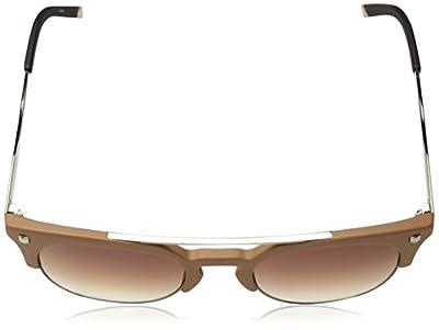 Calvin Klein Unisex Ck3199s Retro Round Sunglasses, Matte Sand, 52 mm