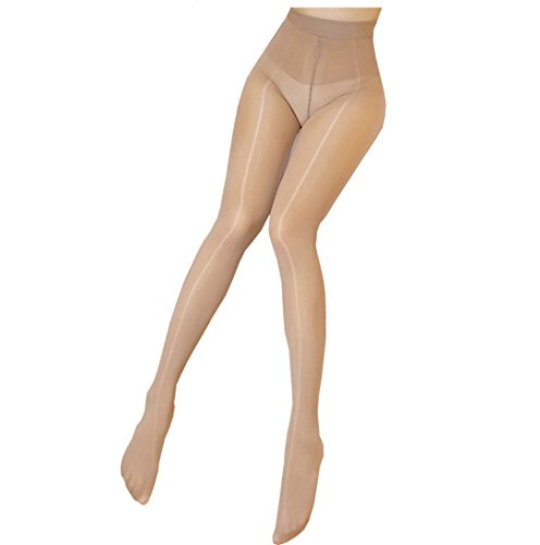 Super Shiny Footed Tight Oily Bright Shimmery Body Stockings Sexy Pantyhose 8 Denier 912-Pin Socks (Beige, Type10)
