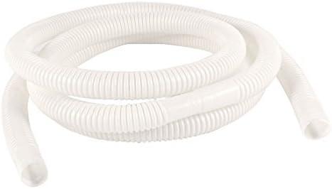 Tubería de plástico manguera de desagüe del acondicionador de aire 2M 6,6 pies 15mm x 16mm blanco