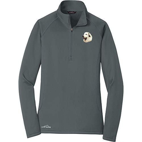 Cherrybrook Breed Embroidered Ladies Eddie Bauer Base Layer Fleece - Small - Irongate - Great Pyrenees