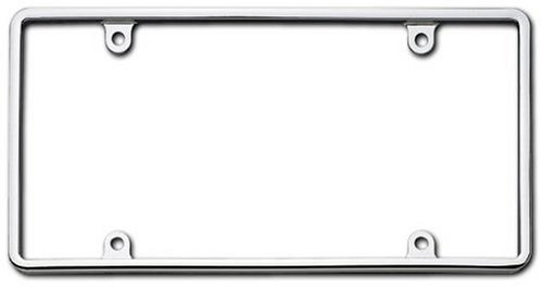 Plate Frame (Cruiser Accessories 21330 Slim Rim, Chrome License Plate Frame)