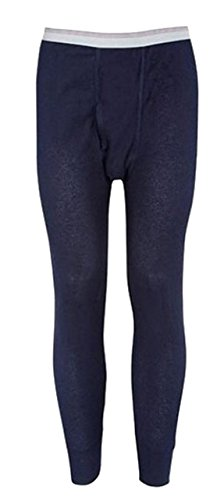 - Indera Mills Colored Thermal Long John Bottoms,Medium,Navy