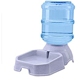 beauty-crystal 3.8L Plastic Pet Water Dispenser Home Automatic Feeding Large Capacity Water Dispenser Pet Cat Dog Automatic Drinking Fountain,Yellow