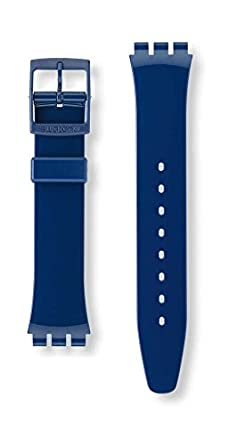 Bracelet Montre Wind' Pour Classic Agn230 17mm Swatch Blue 'up 08OwXnPk