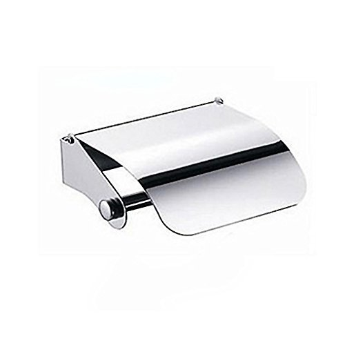 Bathroom Toilet Paper Holder with Cover Stainless Steel Chrome Wall Mount