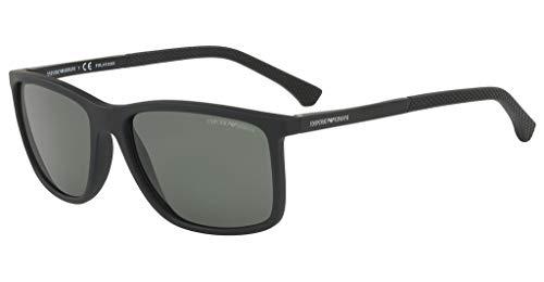 Emporio Armani Men Accessories - Emporio Armani sunglasses (EA-4058 56539A) Matt Black - Black - Green polarised lenses