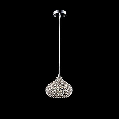 DINGGU™Chrome Finish 1 Light Single Crystal Pendant Lighting for Kitchen Island
