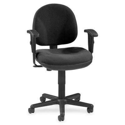 Lorell LLR80004 Adjustable Task Chair, 24″ x 24″ x 33″ to 38″, Black