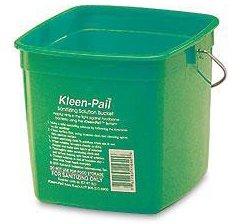 San Jamar 6-Quart Green Kleen-Pail Bucket (Kleen Red Pail Sanitizing)