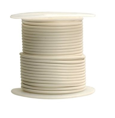 14 AWG Tinned Marine Primary Wire, White, 1000 Feet by Lawrence Marine Products (Image #1)