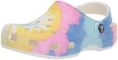 Crocs Men's and Women's Classic Tie Dye Clog | Comfortable Slip On Water Shoes