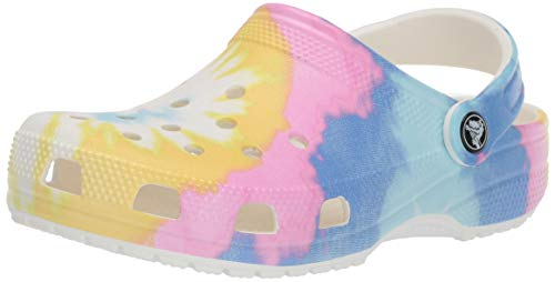 Crocs Classic Tie Dye Graphic Clog, White/Multi, 7 US Women / 5 US Men from Crocs