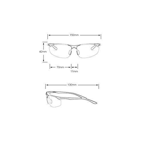 color Conducir Magnesio Para Nocturna La Visión Hombres Y Aluminio Plata De Polarizadas Especiales Conducción Gafas Negro Aleación BgTUO